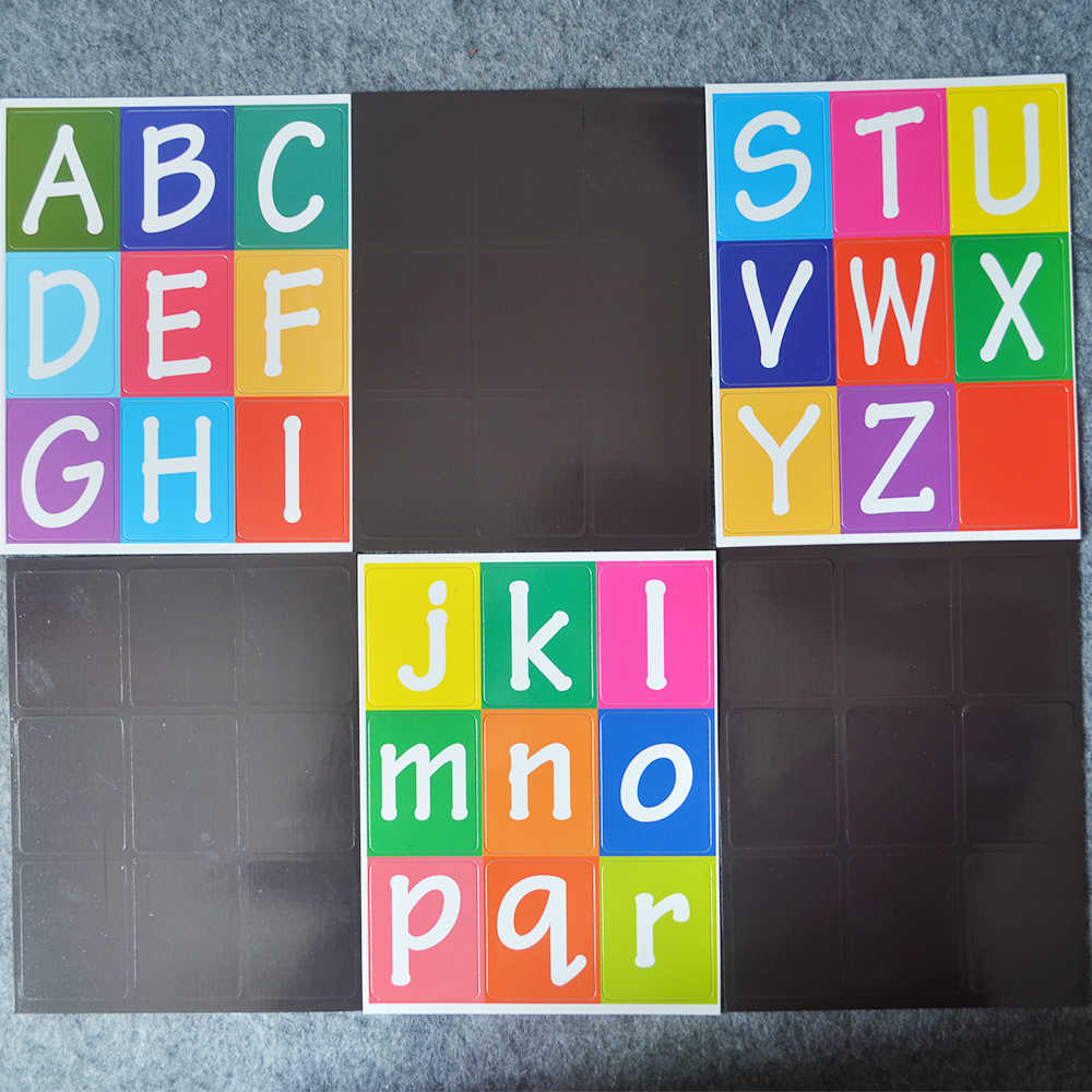 Seatrend Multi Color Fridge Magnet Letters Stickers Capital And Lowercase Alphabet Children Educational Toys Jpg