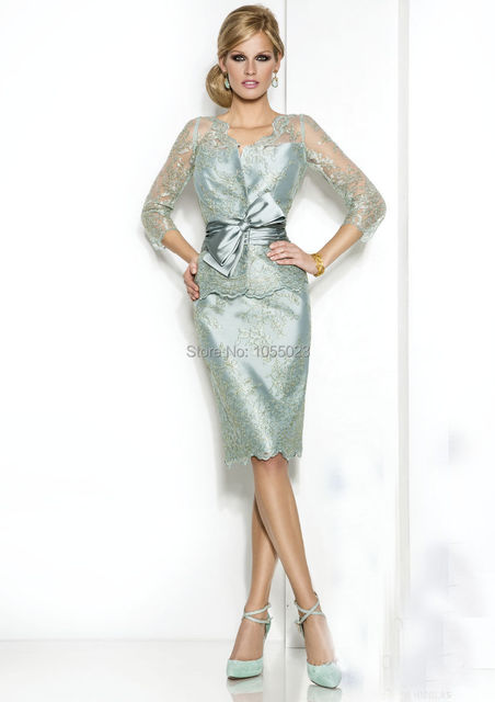 2015 New Style Elegant Mother Of The Bride Lace Outfits Wedding Guest Social Occasion Dress Shop
