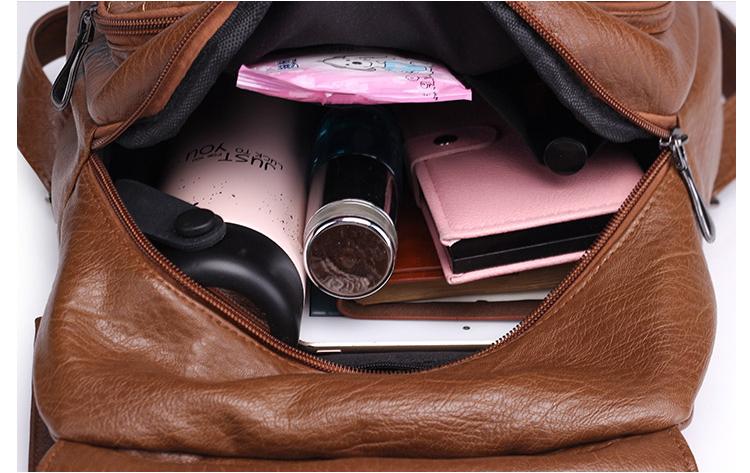 Glorria Women Leather Big Backpack 2018 Casual Shopping Bag Teenager ... 8bba8b50ba372