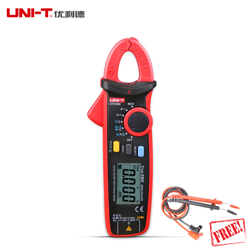 UNI T Clamp Digital Multimeter UT210D UT210E AC DC Current Voltage UT210 series True RMS Auto