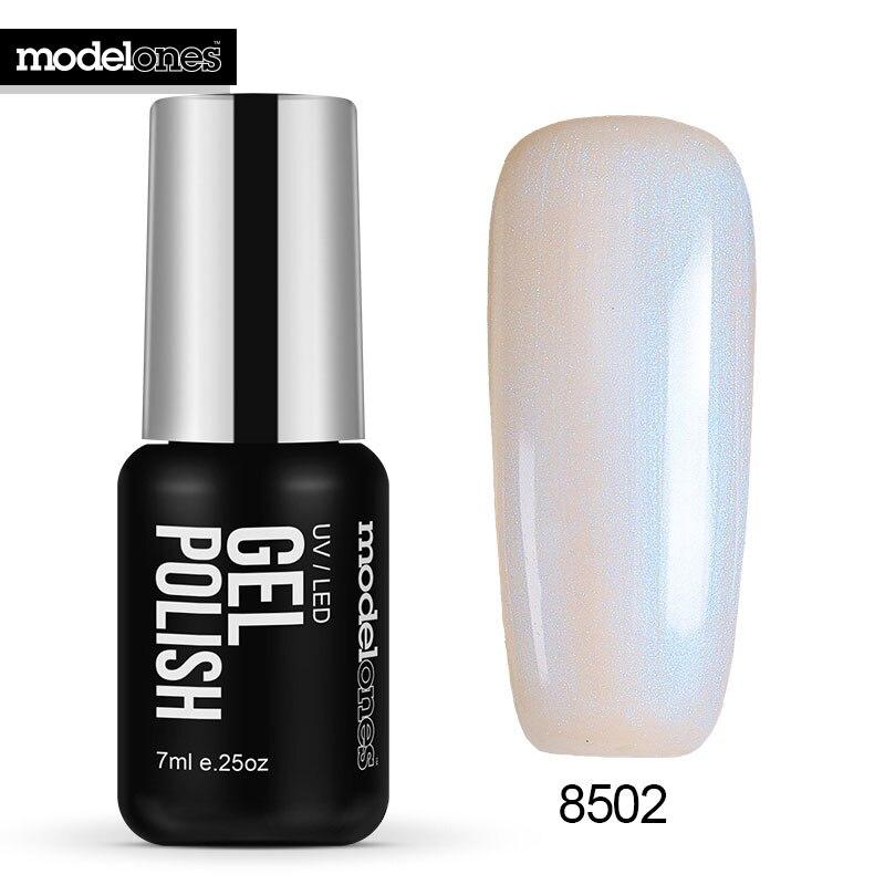 Modelones White Color Pearl Gel Polish Soak Off Shell UV