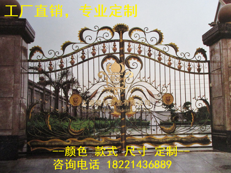 Custom Made Wrought Iron Gates Designs Whole Sale Wrought Iron Gates Metal Gates Steel Gates Hc-g31