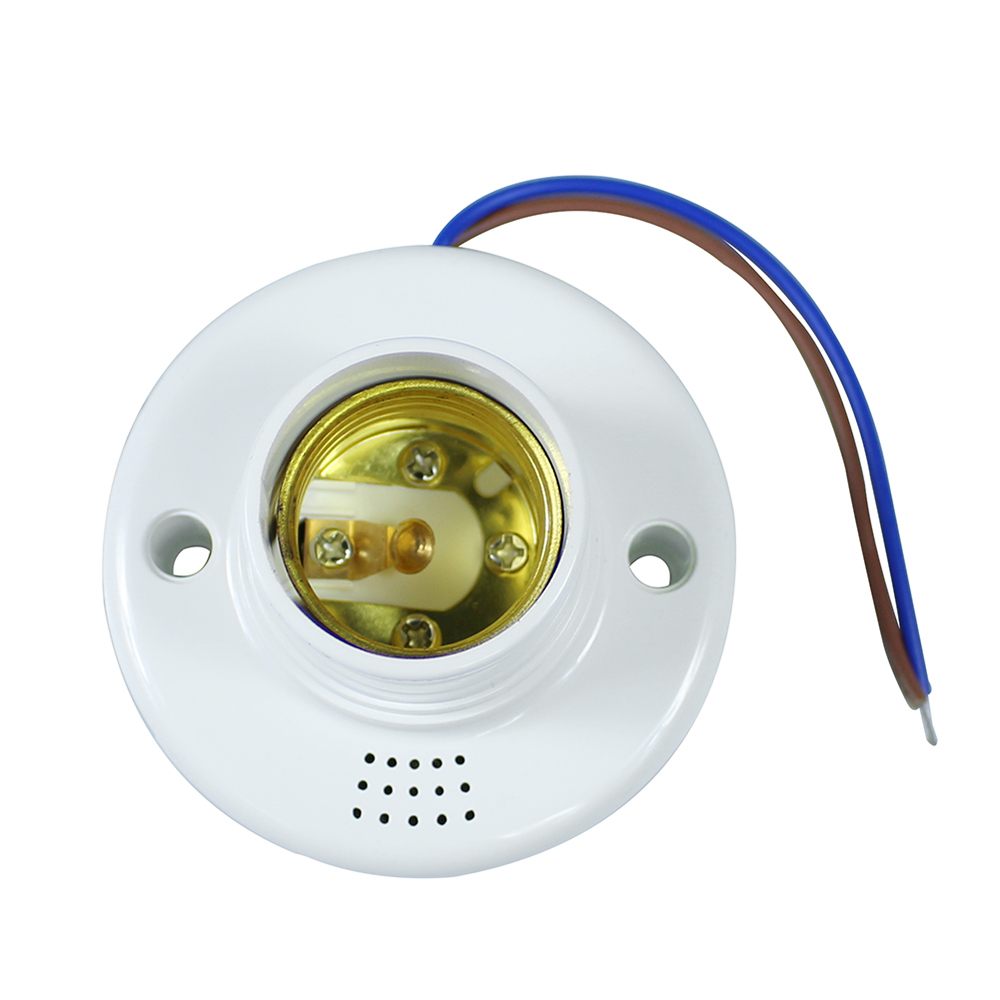 1ks / šarže E27 Ovladač zvukového světla Senzor podstavce Držák žárovky žárovky Šroubová zásuvka pro LED žárovku Energeticky úsporná lampa