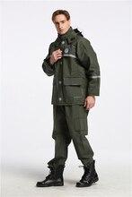 Army Green Men Raincoat Suit Waterproof Hiking Motorcycle Breathable Rain Coat Adult Pants Kaban Erkek Overall 50yc153