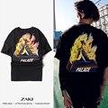 Camiseta de Alta Qualidade Palácio palácio Skates Camisetas de Algodão de Manga Curta Causal Tees Palácio dos homens amantes da mulher tops 21 cor