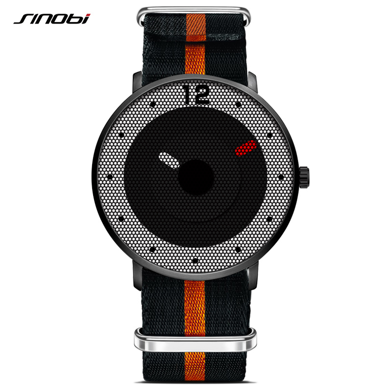 a152fe43f6d SINOBI Relógios de Homens Novo Estilo de 2018 Homens Relógio Militar  Esportes NATO Nylon Pulseira Quartz Relógio de Pulso À Prova D  Água Relogio  masculino