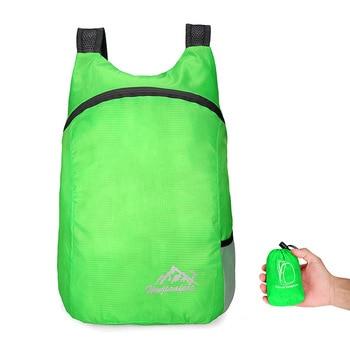 Ελαφρύ Αναδιπλούμενο Νάιλον Σακίδιο Πλάτης Πολλαπλών Χρήσεων για Ψώνια Μίνι Φορητό Καθημερινό backpack που Διπλώνει σε Πορτοφολάκι Τσέπης