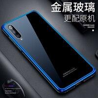 Luxury Metal Frame Bumper for Xiaomi MI 9 9SE Tempered Glass Back Phone Case for Xiaomi 9 MI9 Transparent Slim Skin for Xiaomi9