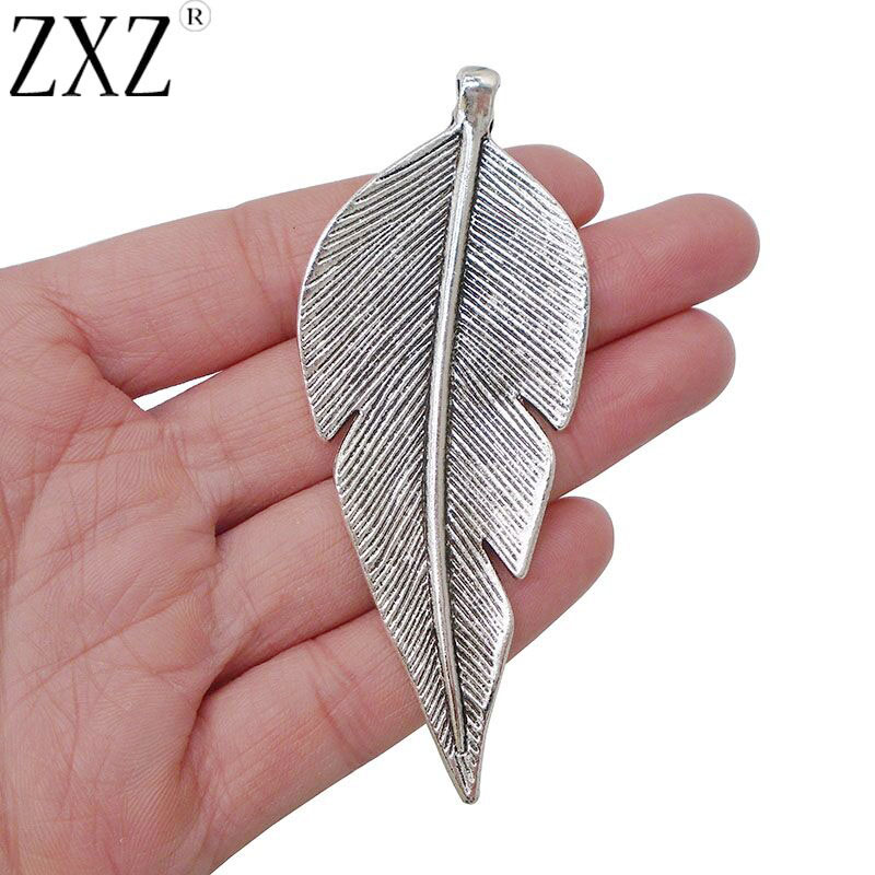 10 Antique Silver Large Ginkgo Leaf Charms Pendants for Jewelry Making Findings
