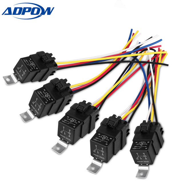 Pleasing Adpow Dc 12V Waterproof Car Relay 40A Car Relay Switch Harness 5 Pin Wiring 101 Photwellnesstrialsorg