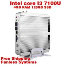 Мини-ПК Intel 7e Gen Кабы Lac Windows 10 i3 7100U 4 ГБ RAM 128 ГБ SSD 4 К HD Graphics 620 300 М Wi-Fi HDMI TV Box Бесплатная Доставка usb