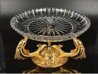 Hotel KTV compote toughened glass crystal home sitting room big fruit basin