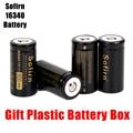 Аккумуляторная батарея Sofirn  3 7 В  16340  900 мА · ч  литиевые батареи  HD ячейки  высокоразряжаемые батареи  светодиодный фонарик