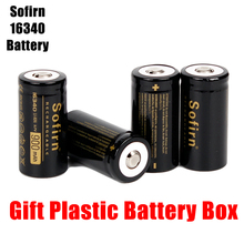 Sofirn 3 7V 16340 900mah Rechargeable Battery Lithium Batteries HD Cell High Discharge Batteries for LED Flashlight cheap B-16340-900 Li-Ion Batteries Only Bundle 1 2pcs 4pcs 6pcs