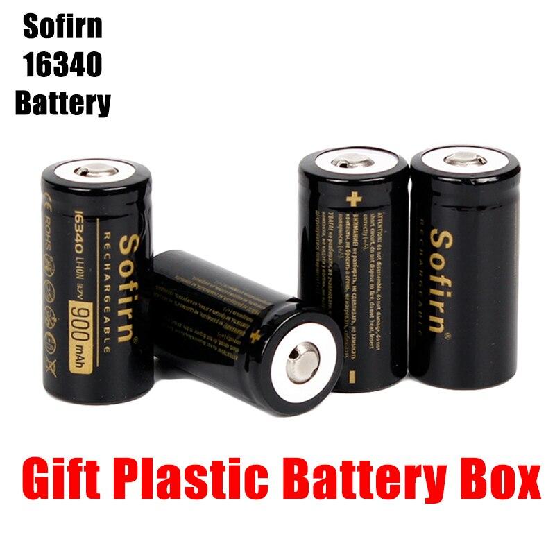 Аккумуляторная батарея Sofirn, 3,7 В, 16340, 900 мА · ч, литиевые батареи, HD ячейки, высокоразряжаемые батареи, светодиодный фонарик
