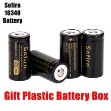 Baterias de alta descarga da pilha das baterias de lítio hd da bateria recarregável de sofirn 3.7 v 16340 900mah para a lanterna led