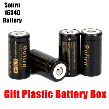Sofirn 3.7V 16340 900mah Rechargeable Battery Lithium Batteries HD Cell  High Discharge Batteries for LED Flashlight 12pcs 14500 900mah 3 7v li ion rechargeable batteries aa battery lithium li ion cell for led flashlight headlamps torch mouse