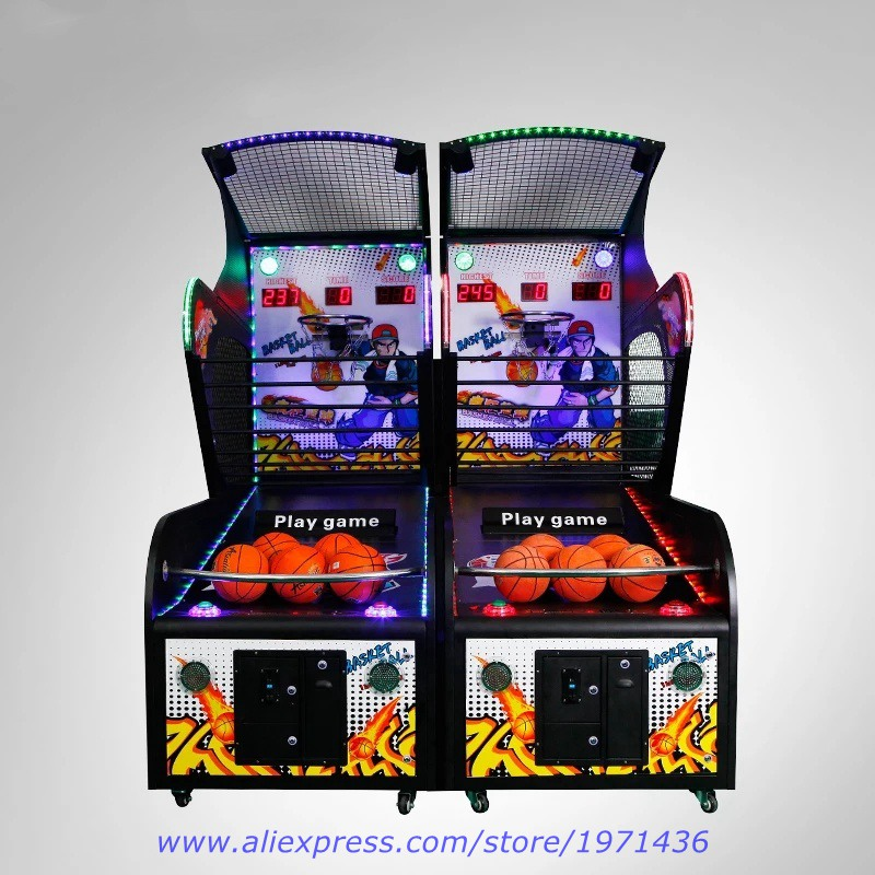 Entertainment Equipment Teenagers Arcade Games Coin Operated Electronic Luxury Basketball Game Machine 2016 new amusement park equipment arcade coin operated machine simulator mario kart play car racing games