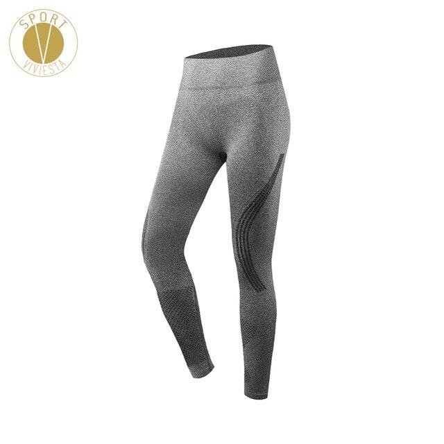 ed0b125afa Laser Cut Mesh Sports Leggings - Women's Yoga Fitness Gym Run Workout Active  Stretch Fit Crochets Sexy Long 7/8 Tights Pants