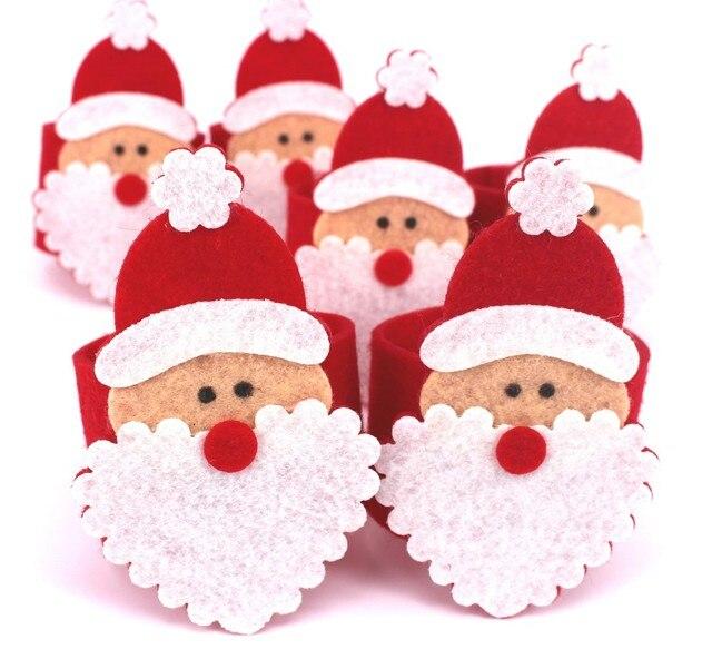 1pc Santa Claus Grandpa Napkin Rings Holder Christmas Home