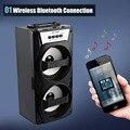 Ms-148bt portátil sem fio bluetooth speaker de alta potência de saída de rádio fm com graves fortes portáteis audio player apoio tf cartão