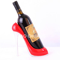 High Heel Shoe Wine Bottle Holder Shoes Design Resin Crafts Wine Bottle Holder Rack Shelf For