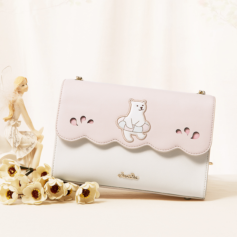 When the new summer 2017 European polar bear stamp Handbag Shoulder Bag Messenger Bag Korean all-match envelope bag new summer