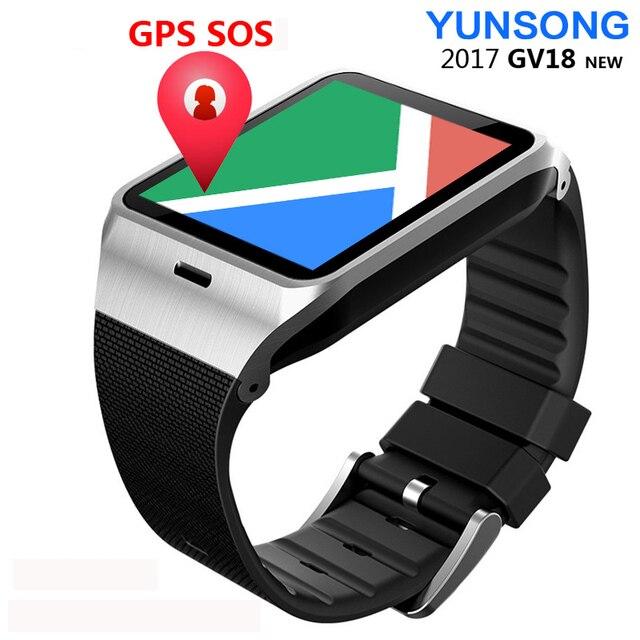 Original Sim Card Smart Watch Phone Gv18 Aplus Bluetooth Clock NFC Call Camera SMS FM Radio reloj inteligente Android SmartWatch