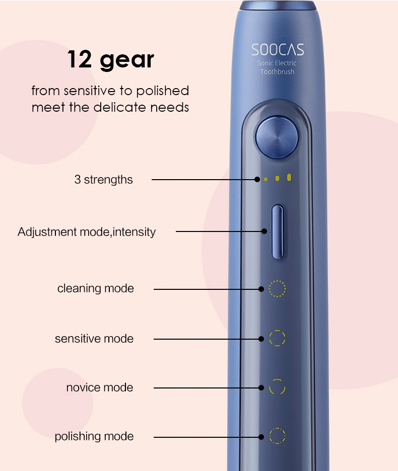 Image 3 - Xiaomi Mijia Sonic Electric Toothbrush Soocas X3 /X5 Upgraded Adult Waterproof Ultrasonic automatic Toothbrush USB Rechargeable-in Electric Toothbrushes from Home Appliances