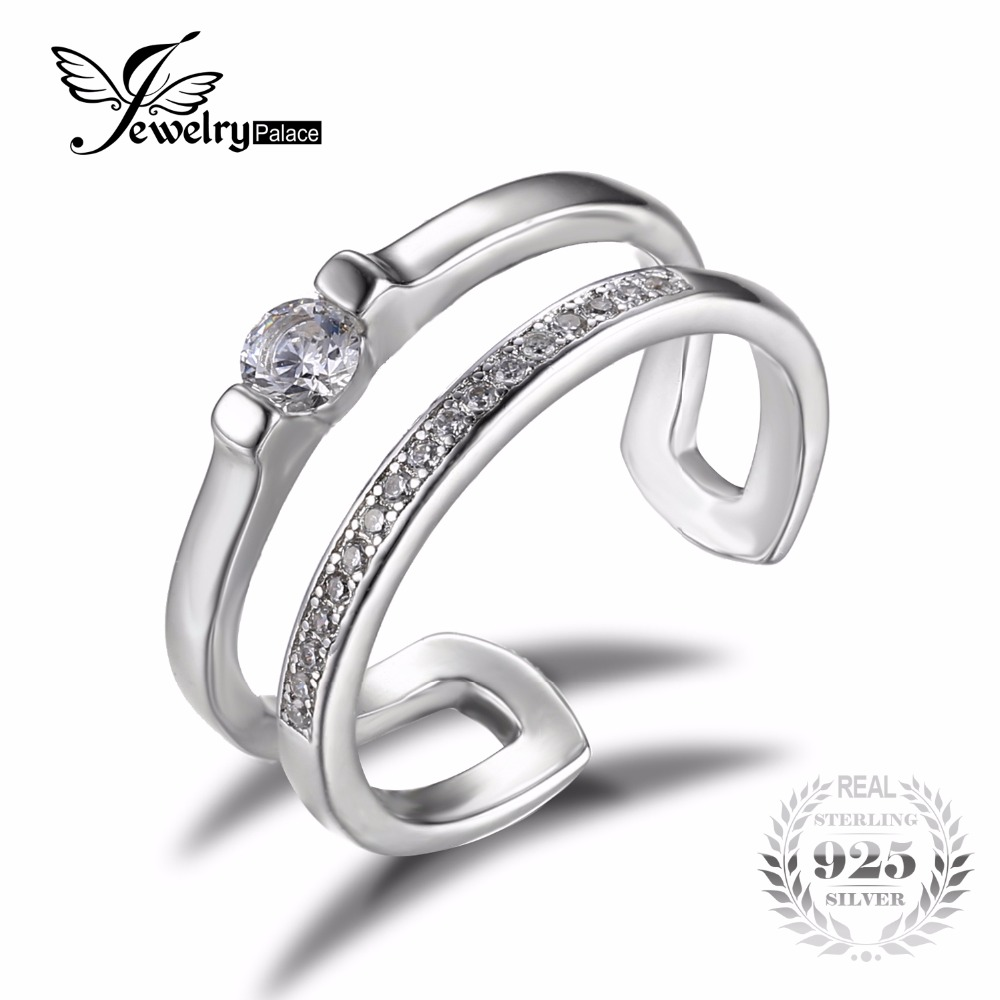 jewelrypalace 02ct cubic zirconia anniversary wedding band engagement ring set guard enhancer real 925 sterling - Wedding Ring Enhancers