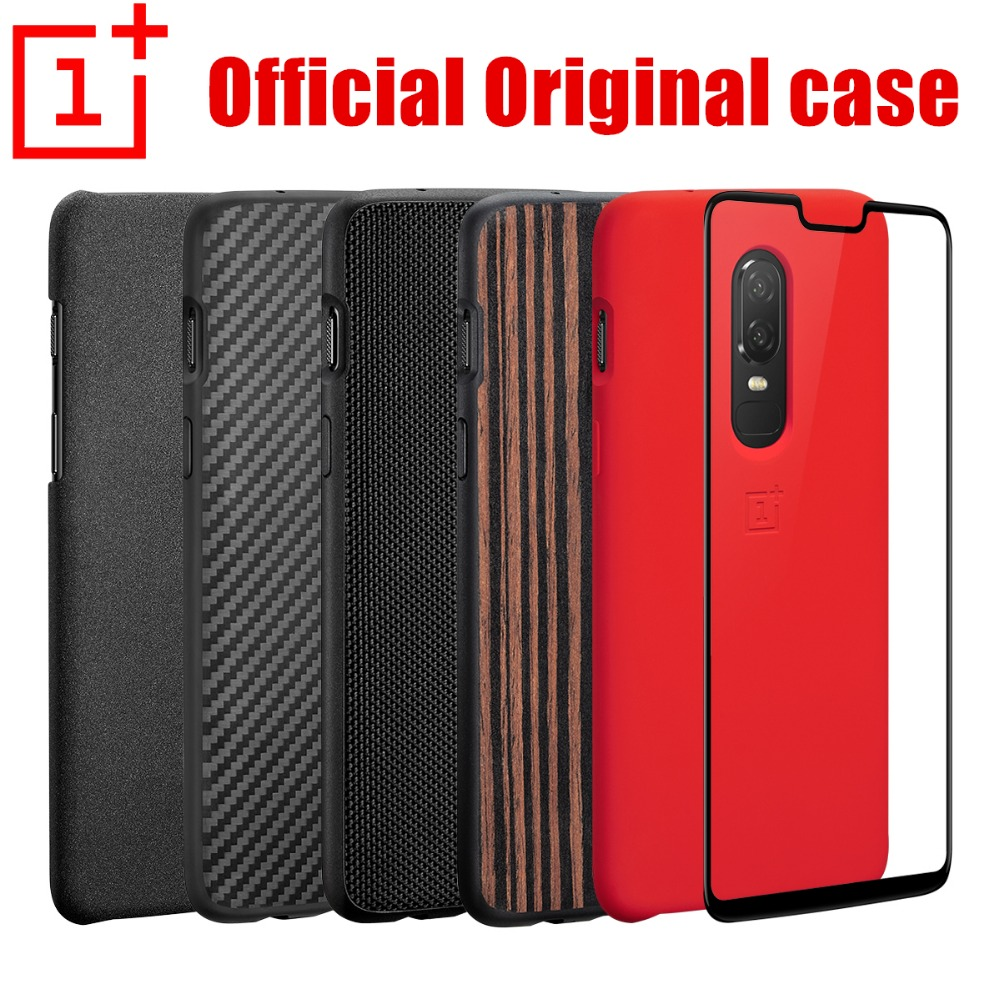 oneplus 6 case official 100% original oneplus company back shell sandstone carbon cover case for one plus 6 coque oneplus 6