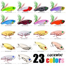 23 color Metal VIB Lures Strong vivid Vibrations Spoon Lure Fishing bait Bass Artificial Hard Bait Cicada insect lure 3D Eyes(China)