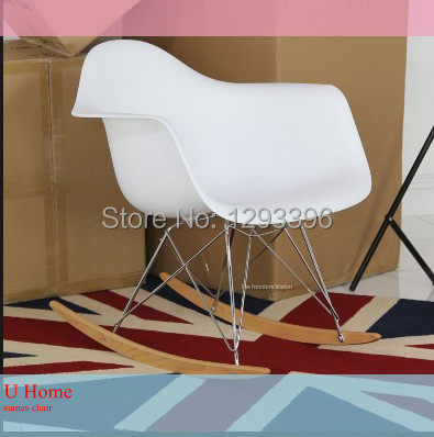 Factory Directly Supplying Top Selling White Eames Rocking Chairs/Living  Room Chairs/cafe Chair/plastic Chair/free Shipping