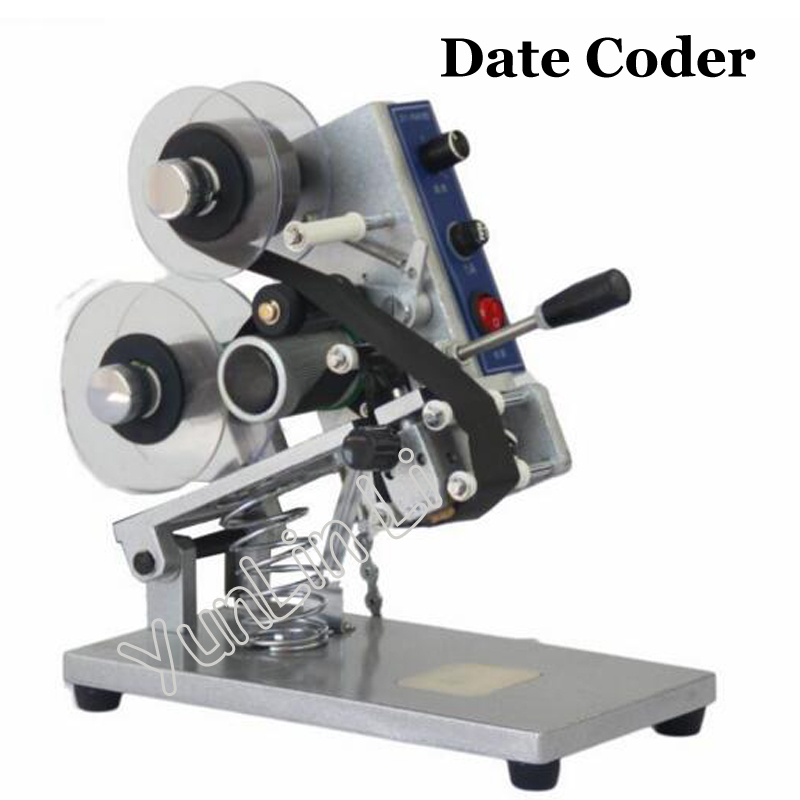 ZY-RM5 Date Coder Color Ribbon Hot Printing Machine Heat ribbon printer film bag date printer manual coding machine
