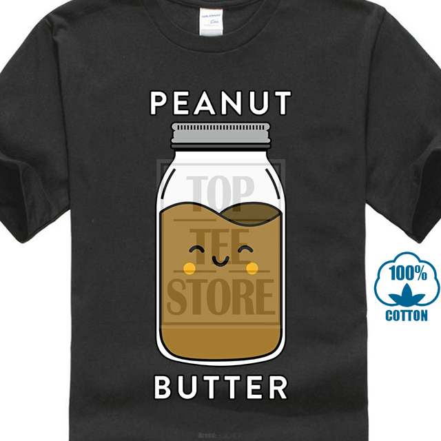 7028520d9 Peanut Butter & Jelly Matching Couple T Shirts Funny Outfits Brand Cotton  Men Clothing Male Slim Fit T Shirt Top Tee