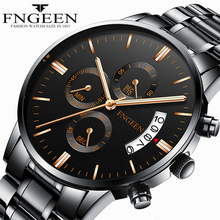 2019 Mens Watches Top Brand Luxury Male Watch Steel Display Calendar Sports Quartz-Watch Date Business Men Clock Fashion Watch business style date display full metal quartz watch for men longbo 80149