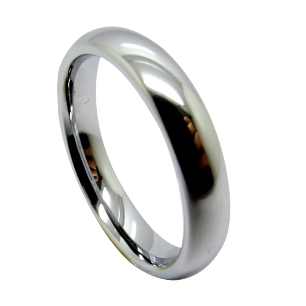 4mm White/ Black/ Gold/ Blue Tungsten Carbide Polished Classic Wedding Ring Band Jewelry Womens Rings ...
