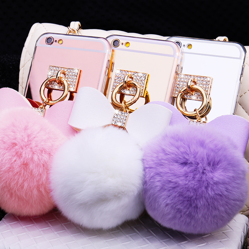 official photos 5ea45 5c4a1 US $4.99 |Rabbit Hair Fur Mirrore TPU Celular Phone Cases For LG V10 G5 G4  Cover Fluffy Ball Tassel Accessories Fundas capa shell -in Half-wrapped ...