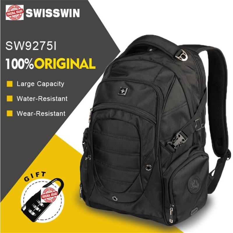 Homme suisse 17 pouces étanche voyage ordinateurs portables d'entreprise sac à dos hommes sac à dos grande capacité collégiage hommes sac à dos Mochila Escolar