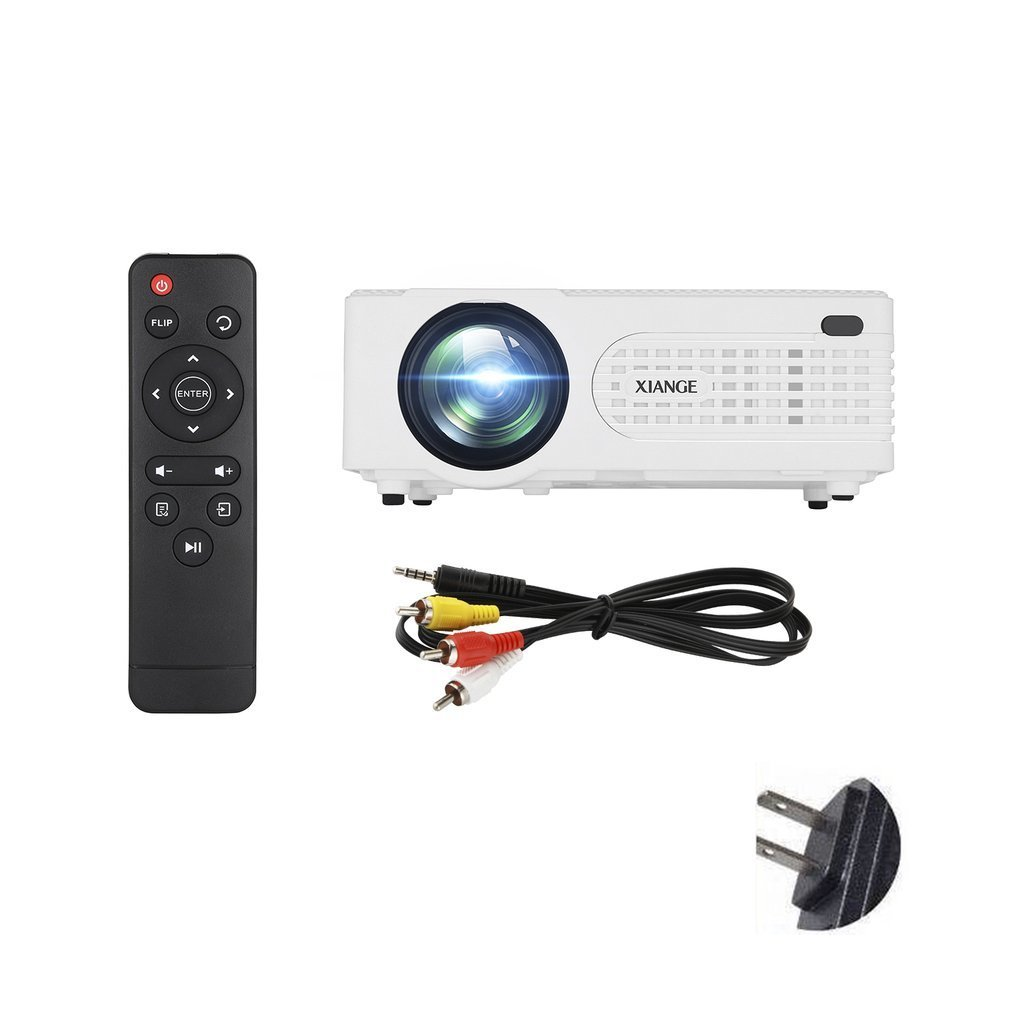 AK80 Household Use LCD 1080P HD 2200LM LED Projector High Performance Home Mulit Media Theater Cinema USB TV VGA Projector