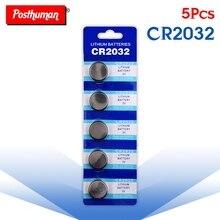 POSTHUMAN Горячая 5 шт. cr2032 CR 2032 3V литиевая клетки Кнопка Батарея 5004LC ECR2032 CR2032 DL2032 KCR2032 3v литиевая батарея