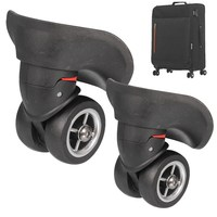 MTGATHER 1Pair 2Pcs Luggage 360 Degree Swivel Spinner Replacement Suitcase Caster Wheels Repair
