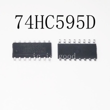 20pcs lot New SM74HC595D 74HC595 74HC595D SN74HC595D SOP16 Logic chip register IC cheap Charger Accessories