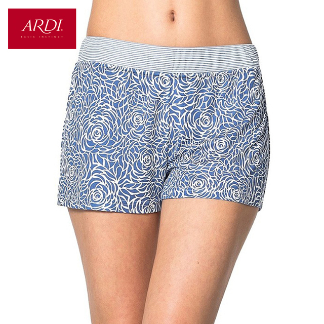 Home Shorts Women Shorts Viscose Free Delivery Beach Loungewear Homewear Collection Grey Blue S M L XL ARDI R1550-55