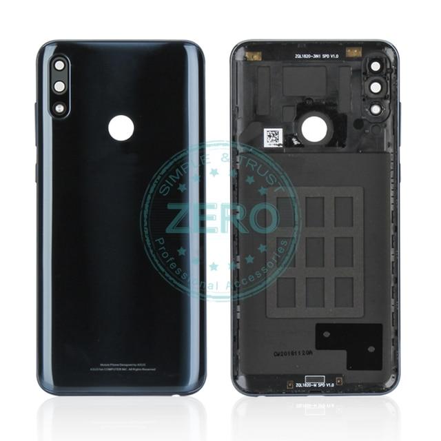 Asus zenfone max pro m2 zb631kl 백 하우징 배터리 도어 커버 pc 플라스틱 + 사이드 키 교체 수리 부품