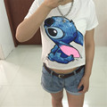 New Fashion Summer Style Lilo & Stitch Print T Shirt Women  White Cotton Tops Tees Camisas Mujer Harajuku Loose T-Shirts Femme