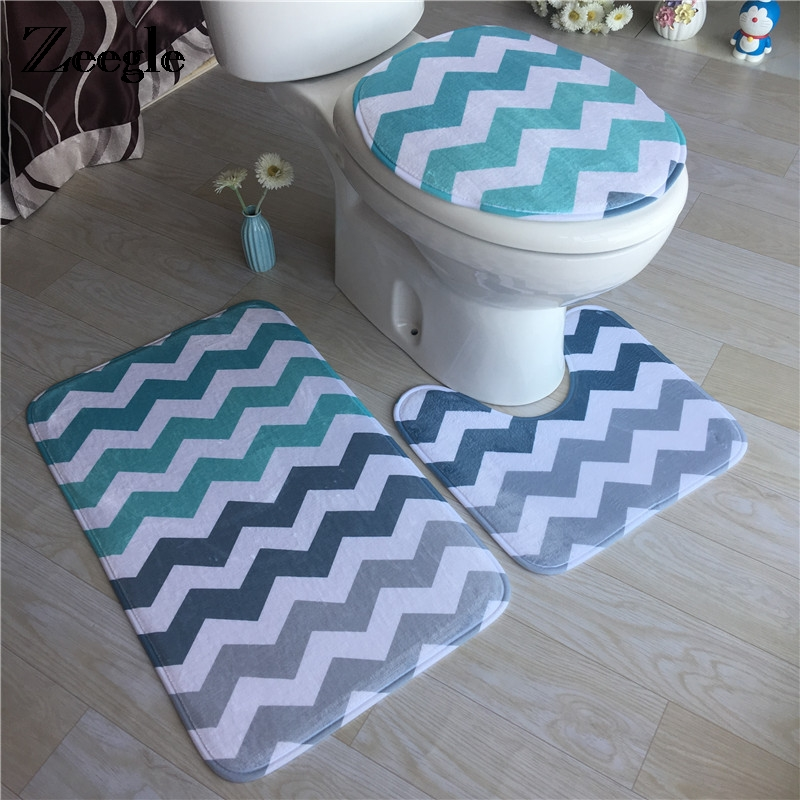 Aliexpress.com : Buy Zeegle Geometric Bath Mat 3Pcs/set