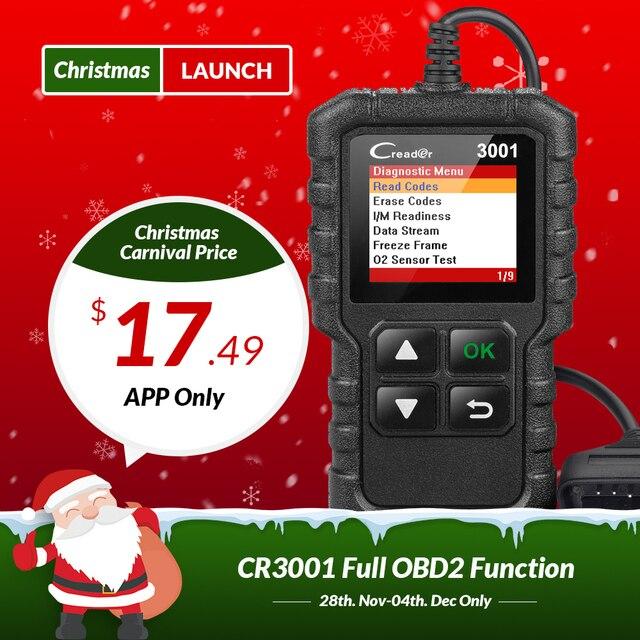 Flash Promo Launch Creader 3001 OBD2 EOBD Automotive Scanner OBD Car Diagnostic Tool OBDII OBD 2 Code Reader Engine Scanner PK ELM327 AD310