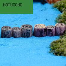 Wood Pile Pier Bridge Bryophyte Micro Landscape Ornamental Resin Ornaments Decorative Materials Figurine Garden Miniatures(China)