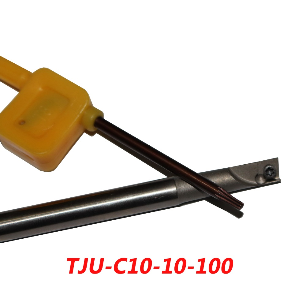 TJU-C10-10-100 Indexable Drilling And Milling Cutter Arbor For CCMT060204 Carbide Insert  цены